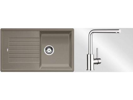Kuchyňský set Blanco dřez ZIA 5 S tartufo + baterie Mila  + Vůně do bytu Areon 85ml