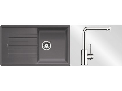 Kuchyňský set Blanco dřez ZIA 5 S šedá skála + baterie Mila