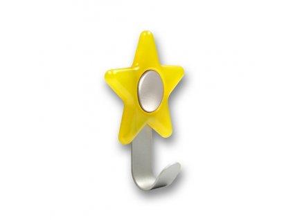 Nábytkový dětský věšák Hvězdička žlutá