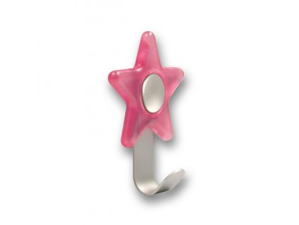 Nábytkový dětský věšák Hvězdička růžová