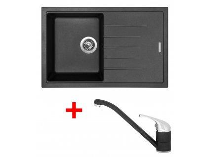 Akční set Sinks dřez BEST 780 + baterie CAPRI 4 Metalblack  + Vůně do bytu Areon 85ml