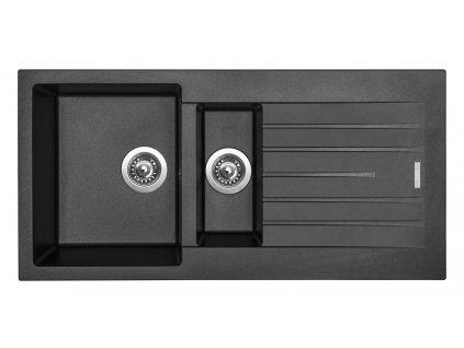 Granitový dřez Sinks PERFECTO 1000.1 Metalblack  + Sinks čistící pasta