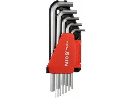 Sada klíčů imbus 12 ks delší palcové