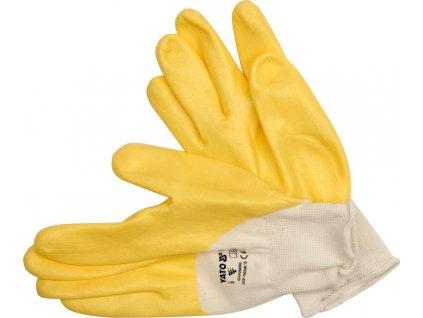 Rukavice pracovní nylon/nitril vel. 9