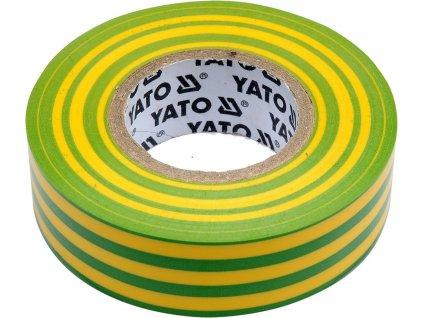 Izolační páska elektrikářská PVC 19mm / 20m žluto-zelená