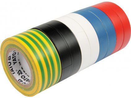 Páska izolační 19 x 0,13 mm x 20 m barevná 10 ks