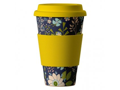 Bamboo Cup 400ml - Flowers