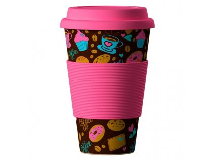 Bamboo Cup 400ml - Donuts