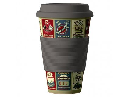 Bamboo Cup 400ml - Cars