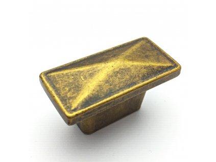 Nábytková knopka Safira zlatá antik