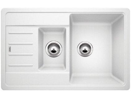 Kuchyňský granitový dřez Blanco LEGRA 6 S Compact bílá  + Čistící prostředek BLANCO ANTIKALK 30 ml