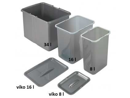 Samostatný odpadkový koš Sinks 8 l
