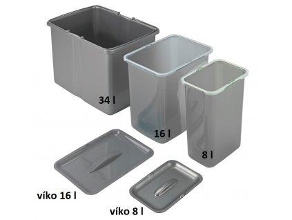 Samostatný odpadkový koš Sinks 16 l