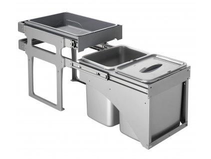 Odpadkový koš Sinks TANK FRONT 40 2x16l  + Sinks čistící pasta