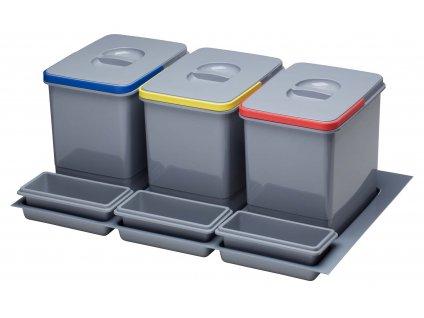 Odpadkový koš Sinks PRACTIKO 800 3x15l+3x miska