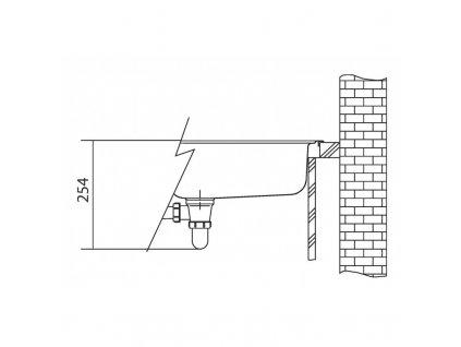 Kuchyňský nerezový dřez Franke MON 681 E