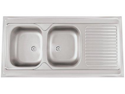 Kuchyňský nerezový dřez Sinks CLP-A 1200 DUO M