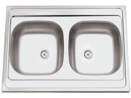 Kuchyňský nerezový dřez Sinks CLP-A 800 DUO M