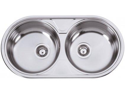 Kuchyňský nerezový dřez Sinks DUETO 847 M matný