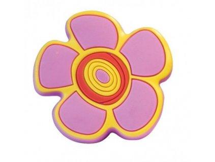 nabytkova knopka kvetinka ruzova plastova