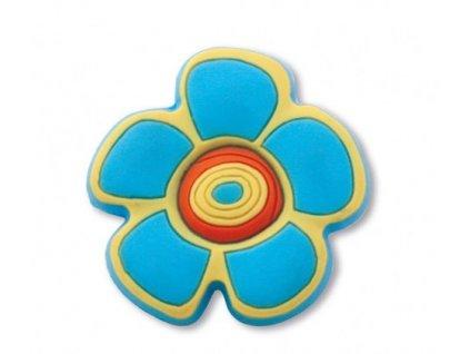 nabytkova knopka kvetinka modra plastova