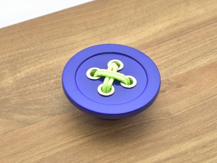 nabytkova knopka bottone knoflik modra