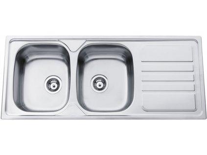 Kuchyňský nerezový dřez Sinks OKIO 1200 DUO V leštěný