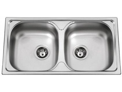 Kuchyňský nerezový dřez Sinks OKIO 780 DUO V leštěný