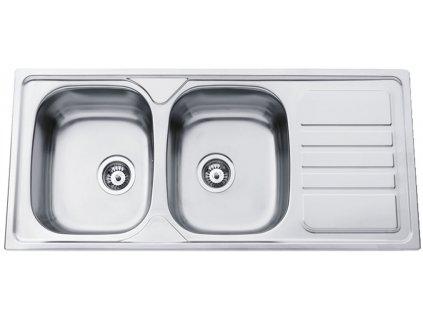 Kuchyňský nerezový dřez Sinks OKIO 1160 DUO V matný