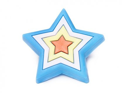 detska knopka hvezda modra