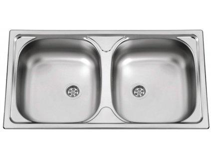 Kuchyňský nerezový dřez Sinks OKIO 780 DUO M matný