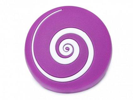nabytkova detska knopka vir fialovy
