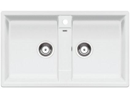 Granitový dvoudřez Blanco ZIA 9 bílá