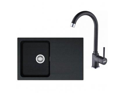 Kuchyňský set Franke T30 (dřez OID 611-78 + baterie FP 9900) Černá  + Vůně do bytu Areon 85ml
