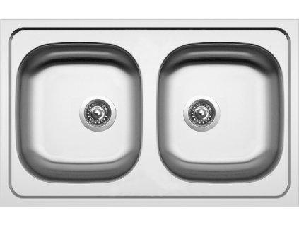 Kuchyňský nerezový dřez Sinks CLASSIC 790 DUO V