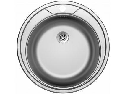 """Kuchyňský nerezový dřez Sinks ROUND 510 M 1 ½"""" matný"""
