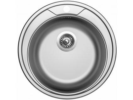 Kuchyňský nerezový dřez Sinks ROUND 510 V matný