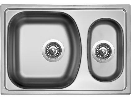 Kuchyňský nerezový dřez Sinks TWIN 620.1 V matný