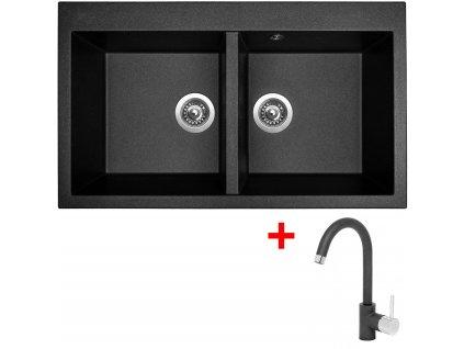 Akční set Sinks AMANDA 860 DUO + baterie MIX 35 Metalblack  + Vůně do bytu Areon 85ml