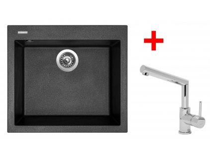 Akční set Sinks CUBE 560 a baterie MIX 350 P Granblack  + Vůně do bytu Areon 85ml