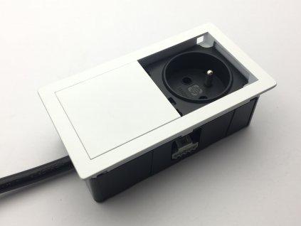 versahit mono elektricka zasuvka 1x230v bila ral9003 detail 1