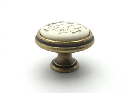 rustikalni knopka paris staromosaz kremovy porcelan