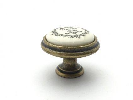 rustikalni knopka vintage staromosaz kremovy porcelan
