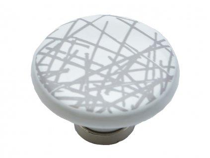 porcelanova knopka bosa bila lines