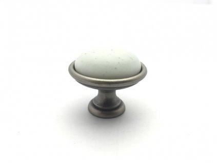 nabytkova knopka lenis porcelan matny kov