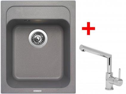 Akční set Sinks CLASSIC 400 Titanium a baterie MIX 350 P lesklá
