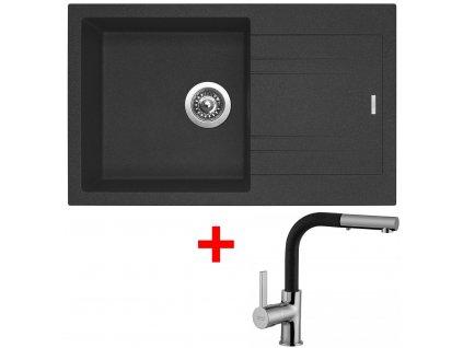 Set Sinks kuchyňský dřez LINEA 780 N  + baterie ENIGMA S Granblack