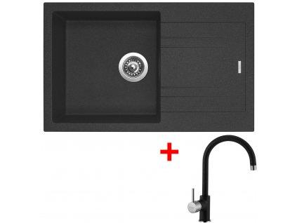 Akční set Sinks dřez LINEA 780 N  + baterie VITALIA Granblack  + Sinks čistící pasta