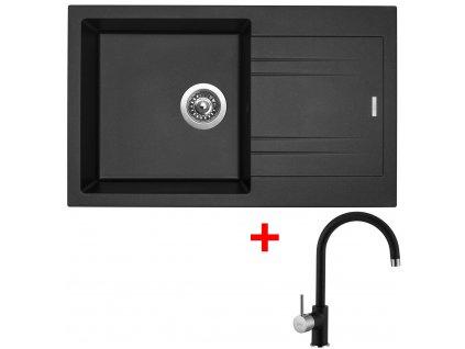 Akční set Sinks dřez LINEA 780 N  + baterie VITALIA Metalblack  + Vůně do bytu Areon 85ml