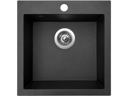 Granitový dřez Sinks VIVA 455 Metalblack